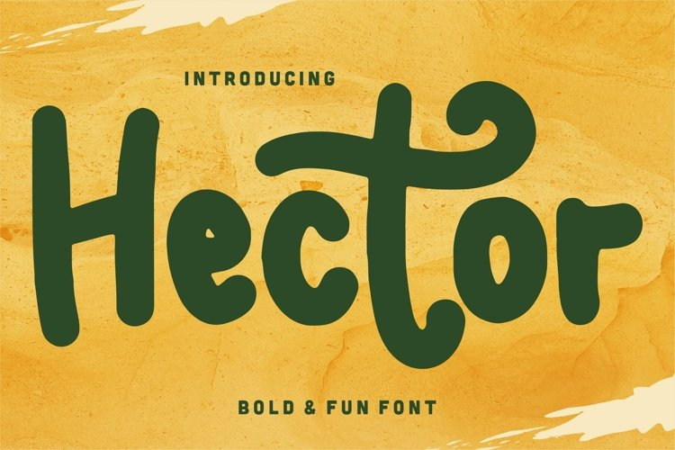 Web Font Hector - Bold & Fun Font example image 1