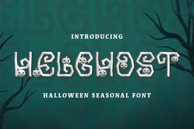 Web Font Helghost Font example image 1