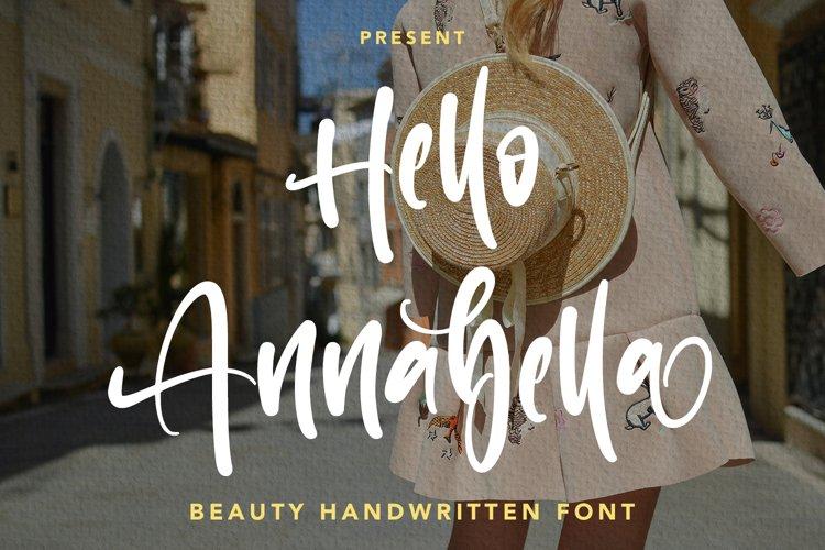 Hello Annabella - Beauty Handwritten Font example image 1