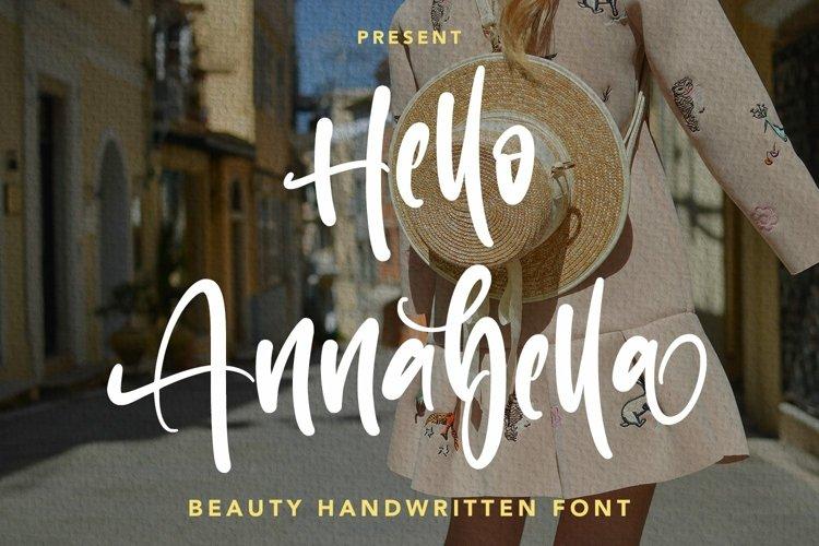 Web Font Hello Annabella - Beauty Handwritten Font example image 1