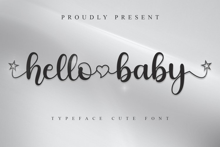 Hello Baby Font example image 1