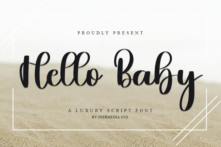 Hello Baby - A Luxury Script Font example image 1