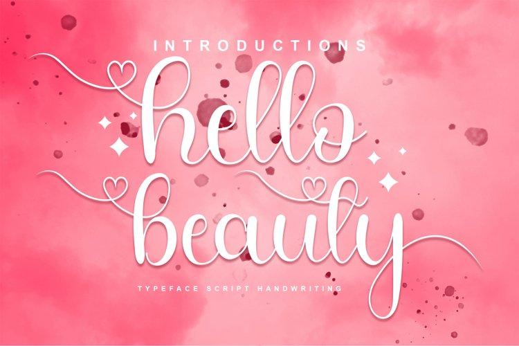 Hello Beauty Font example image 1