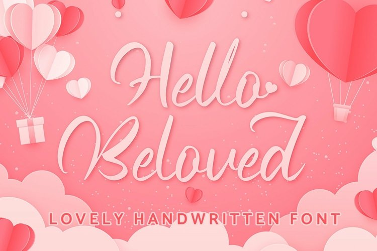 Web Font Hello Beloved - Lovely Handwritten Font example image 1