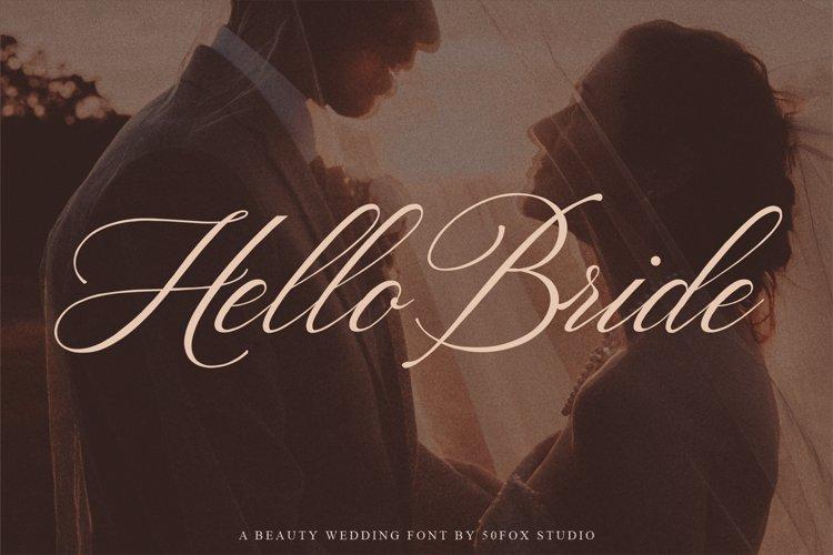 Hello Bride Fonts | Wedding Fonts example image 1