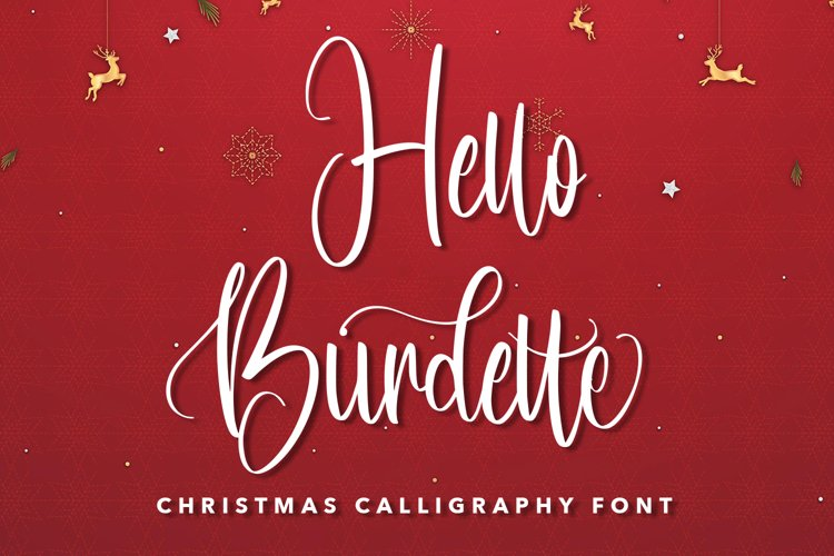 Hello Burdette - Christmas Calligraphy Font example image 1