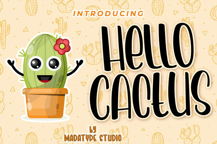 Hello Cactus | A Playful Handwritten Display Font example image 1