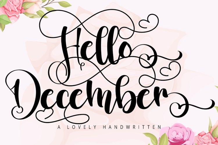 Hello December   A Lovely Script Handwritten example image 1