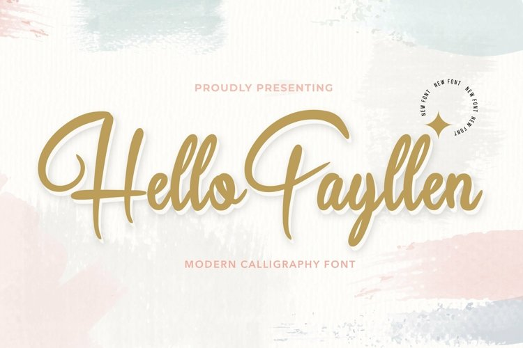 Web Font Hello Fayllen - Valentines Font example image 1
