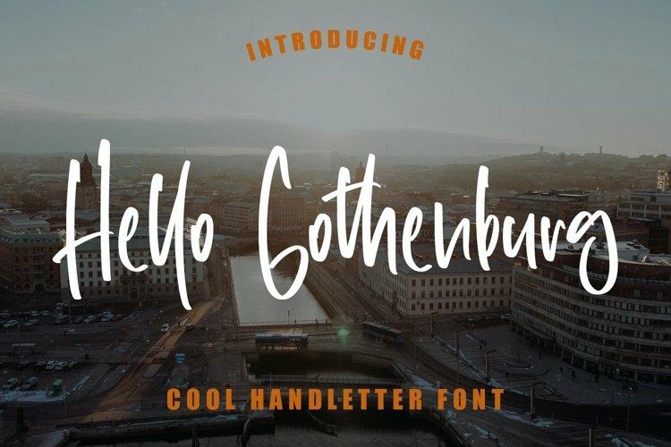 Web Font Hello Gothenburg - Cool Handletter Font example image 1