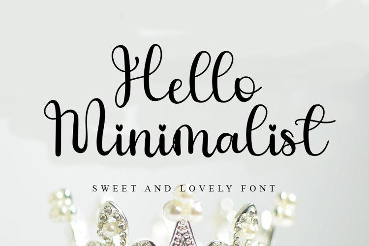 Hello Minimalist - Sweet Handwritten Font example image 1