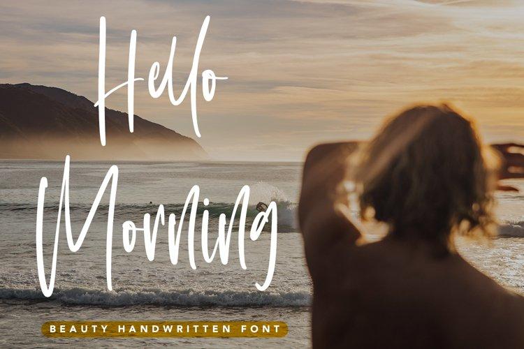 Hello Morning - Beauty Handwritten Font example image 1
