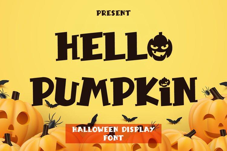 Hello Pumpkin - Halloween Display example image 1