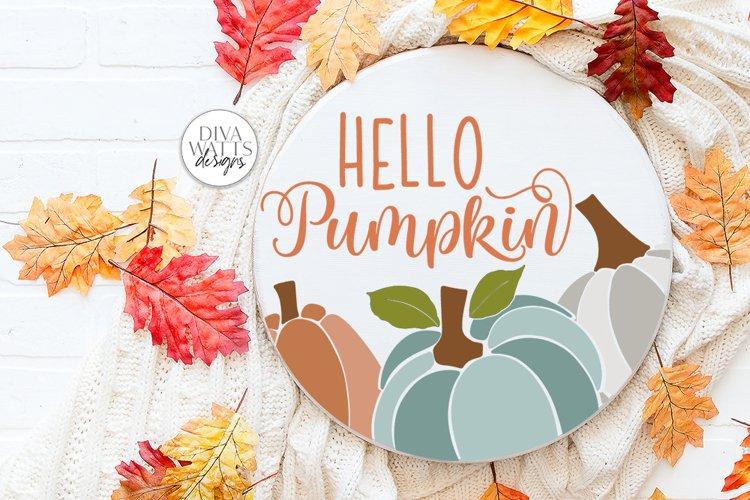 Hello Pumpkin SVG | Fall / Autumn Design example image 1