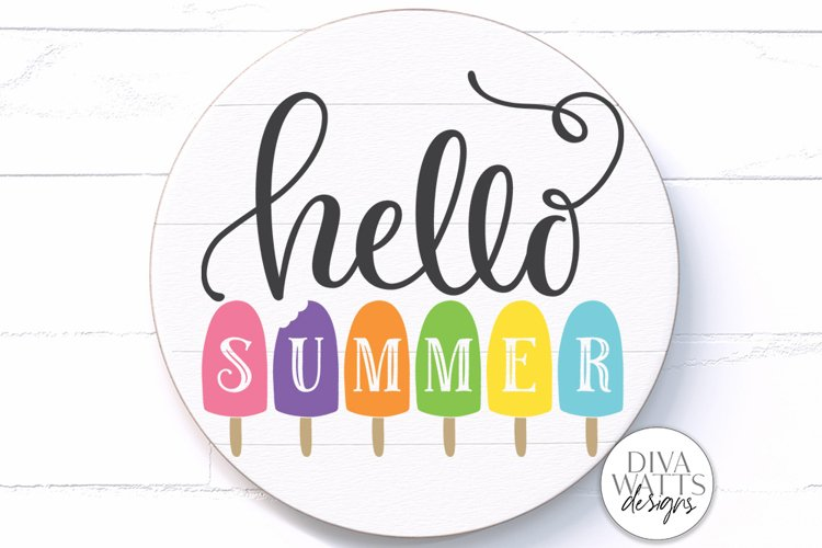 Hello Summer SVG | Popsicles SVG | DXF and More example image 1