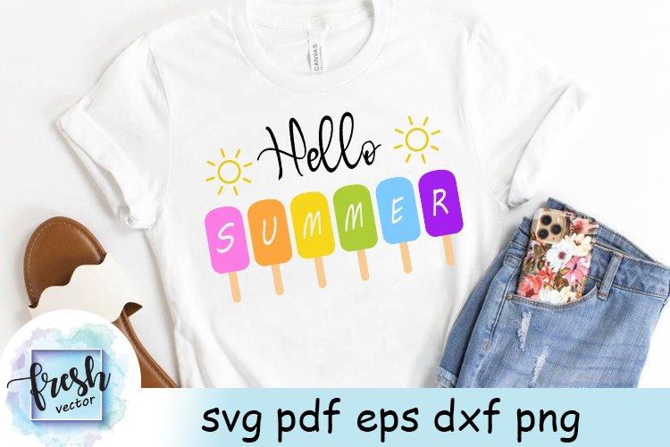 Hello Summer SVG Summer Popsicle svg Summer Svg Beach Svg
