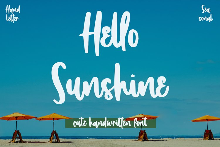 Hello Sunshine - Cute Handwritten Font example image 1