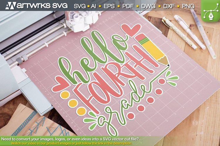 Hello world SVG 4th grade cute clipart by Artworks SVG