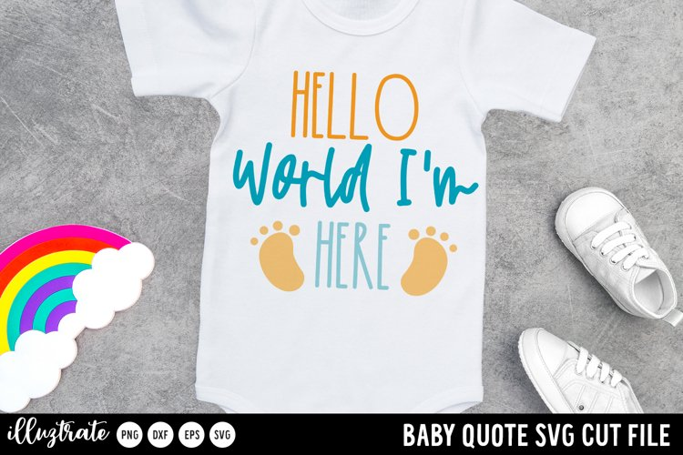 Hello World SVG Cut File | Baby SVG Cut File