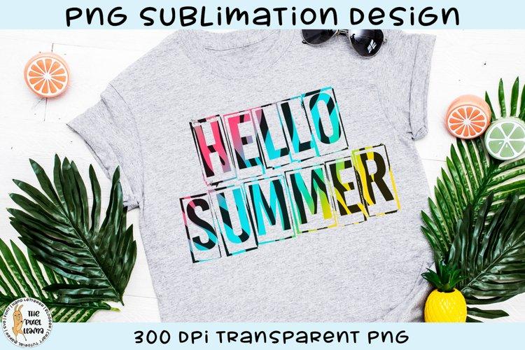 Hello Summer Tiger Print Sublimation Design