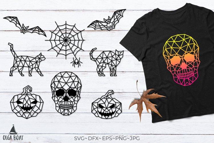 Halloween svg bundle Skull svg Bat Cat Pumpkin Spider Web