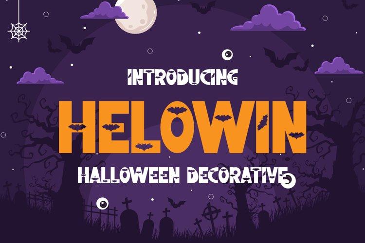 Helowin - Halloween Font example image 1