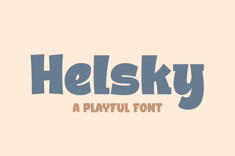 Helsky a Playful Font example image 1