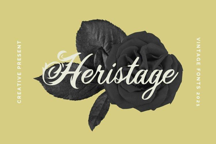 Web Font Heristage Font example image 1