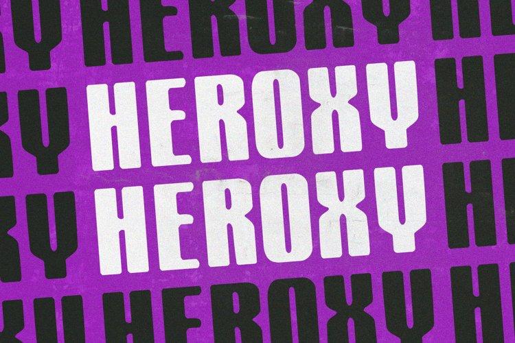 Heroxy Textured Display Sans Serif Font example image 1