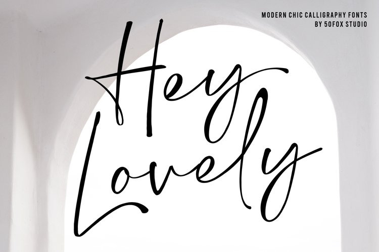 Hey Lovely - Chic Calligraphy example image 1