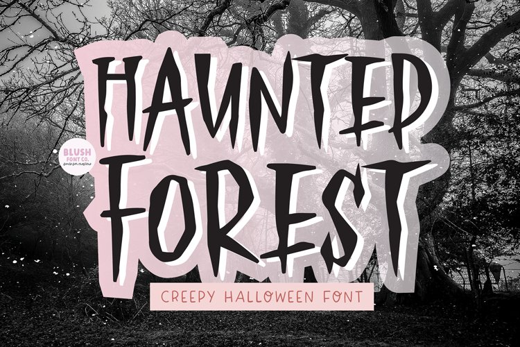 HAUNTED FOREST Creepy Halloween Font example image 1