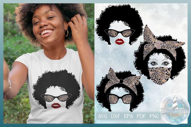 Leopard Bow Afro SVG Bundle - Leopard Print Bow - Afro hair