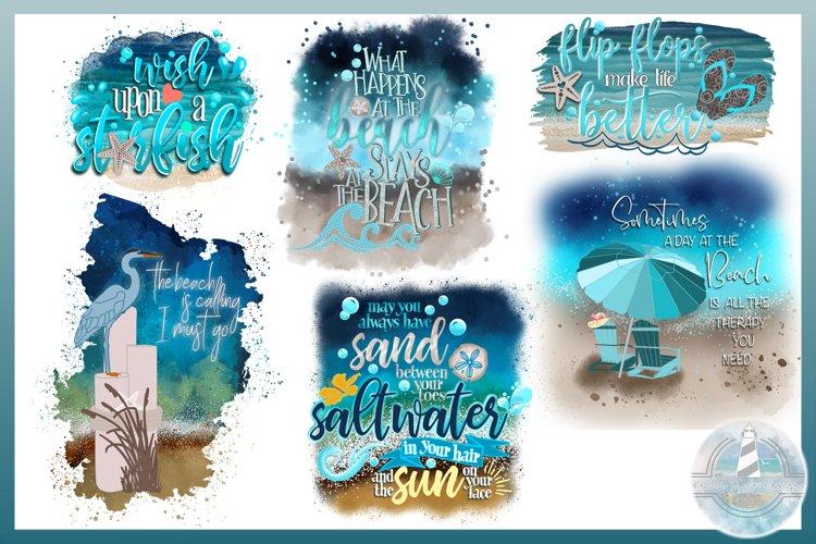 Beach Quotes Sublimation Design Bundle | Sublimation 300dpi