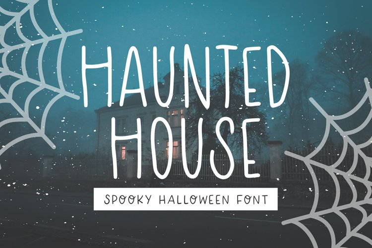 HAUNTED HOUSE Spooky Halloween Font example image 1