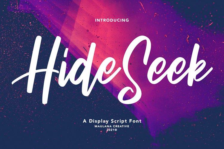 Hide Seek Display Script Font example image 1