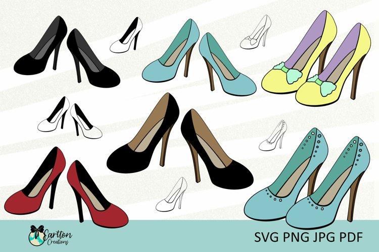 High Heels, Womens Shoes, Clipart, Vector, Cut Files