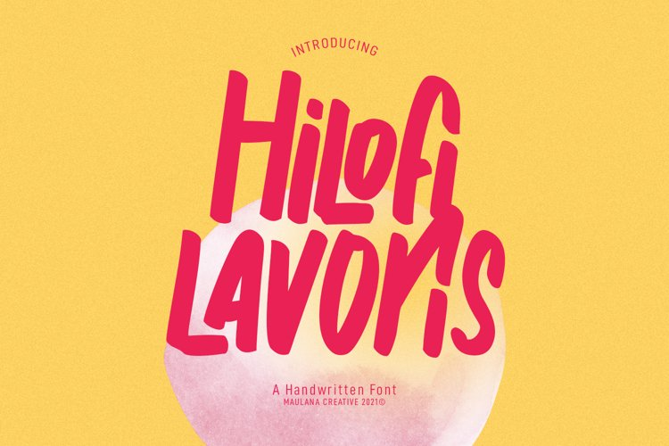Hilofi Lavoris Handwritten Font example image 1