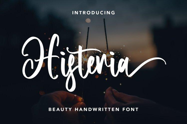 Histeria - Beauty Handwritten Font example image 1