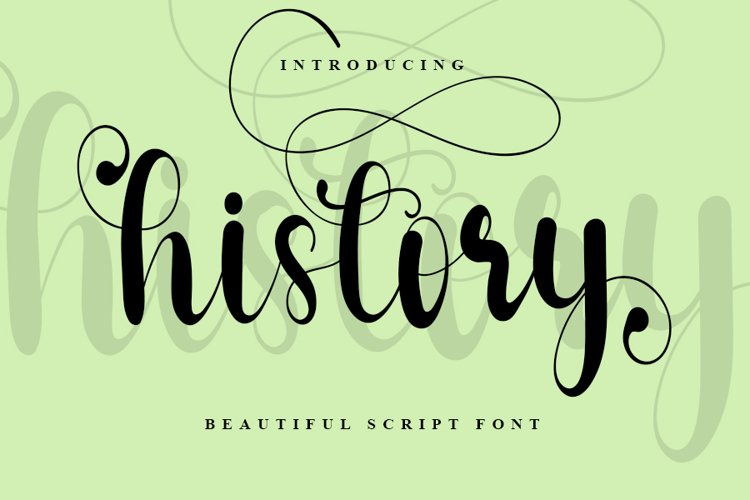 History - Beautiful Script Font example image 1