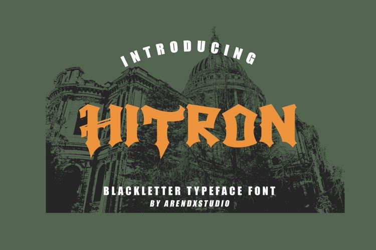 Hitron - Blackletter Typeface Font example image 1
