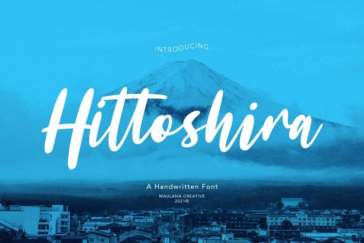 Hittoshira Handwritten Script Font example image 1