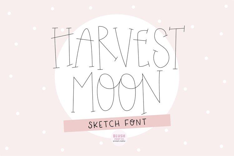 """""""HARVEST MOON"""" Sketch Font - Single Line/Hairline Font example image 1"""