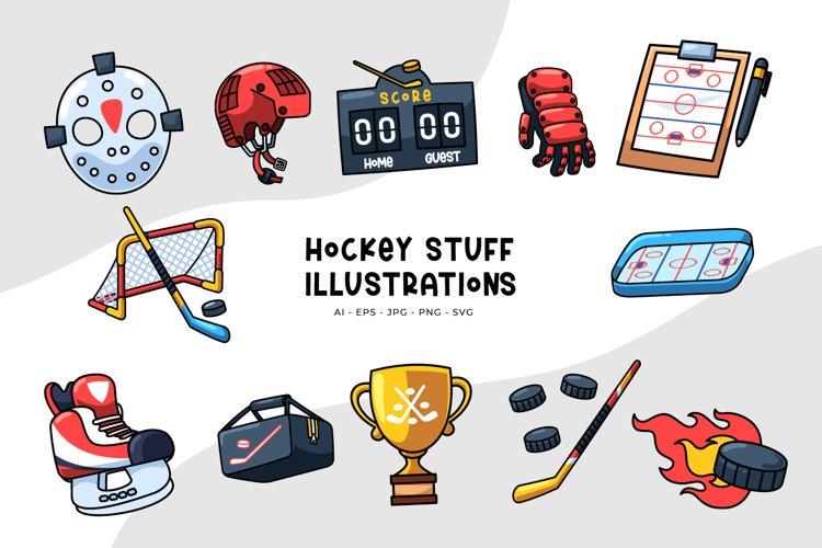 Hockey Stuff Illustrations