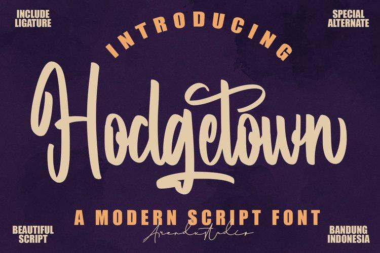 Hodgetown - Modern Script Font example image 1