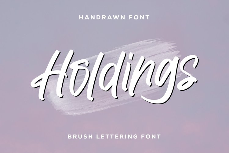 Holdings - Brush Lettering Font example image 1