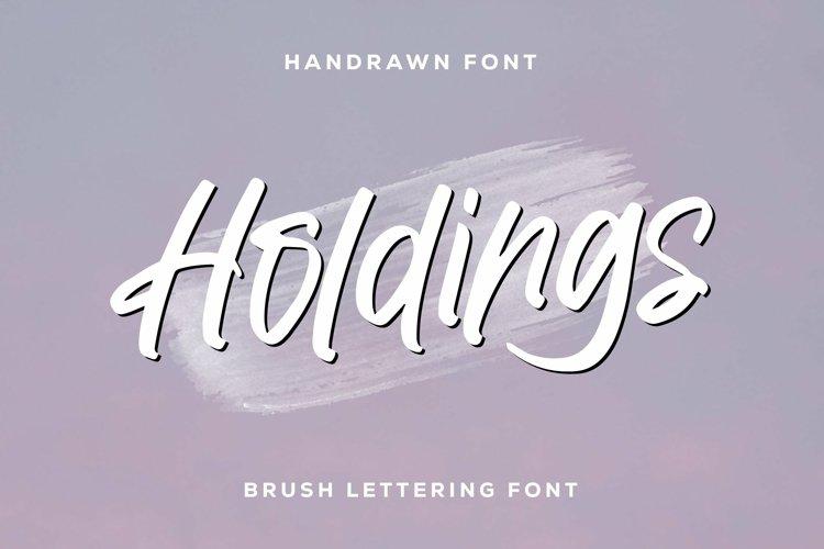 Web Font Holdings - Brush Lettering Font example image 1