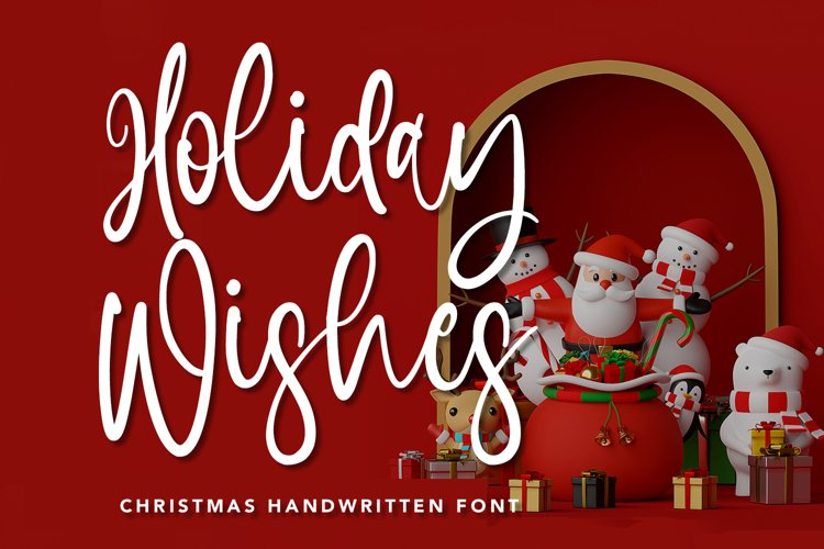 Holiday Wishes - Christmas Handwritten Font example image 1