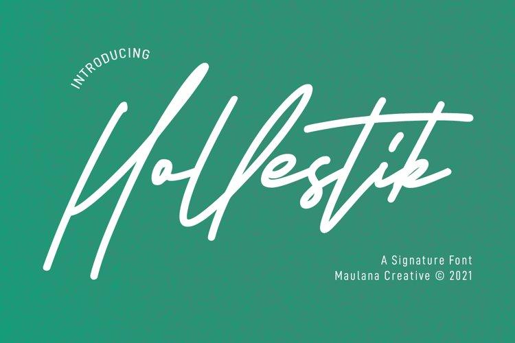 Hollestik Signature Font example image 1