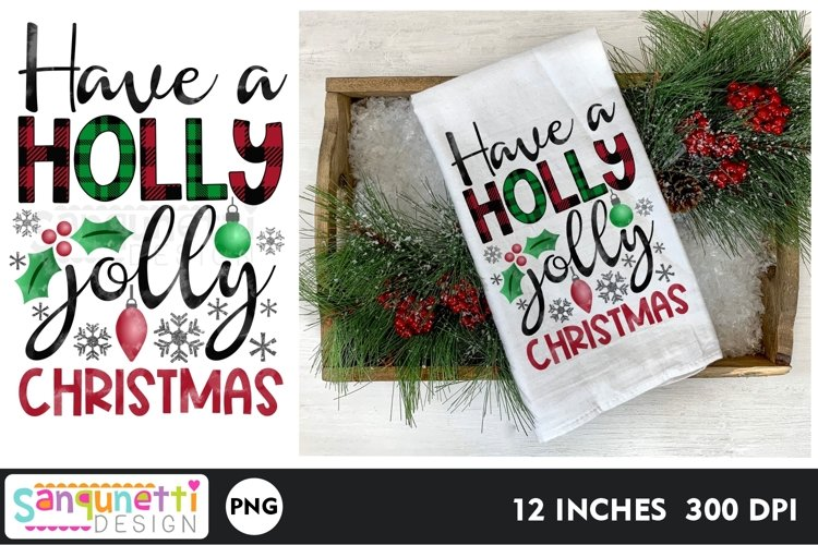 Have a holly jolly Christmas PNG gingerbread Sublimation example image 1