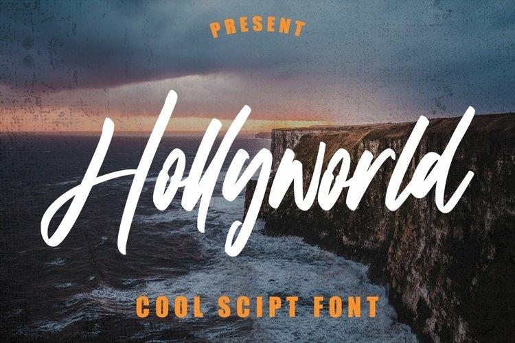 Web Font Hollyworld - Cool Script Font example image 1